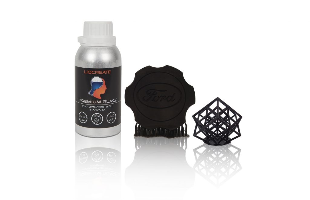 Liqcreate Premium Black resin for LCD DLP 3D Printing