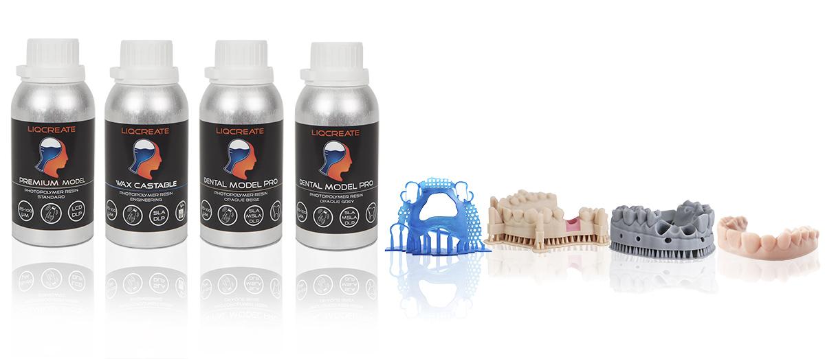Liqcreate Dental Resin for dental manufacturing SLA DLP MSLA LCD